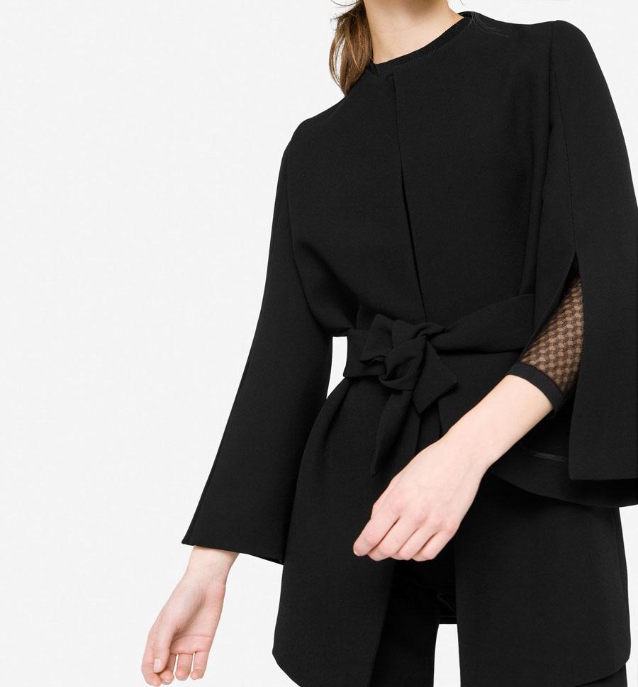 Uterque black winter over-shirt for women