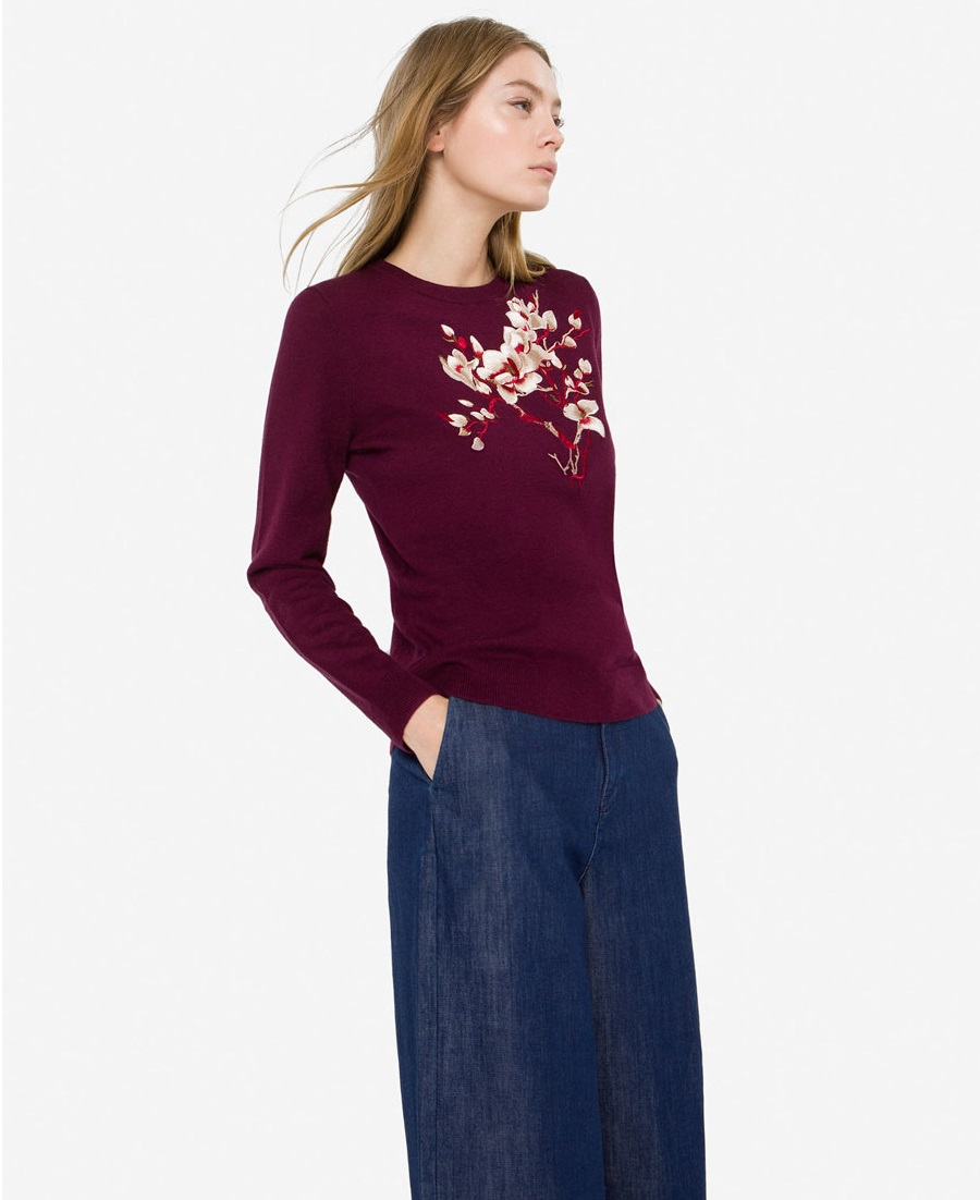 Uterque floral embroidered Winter sweater