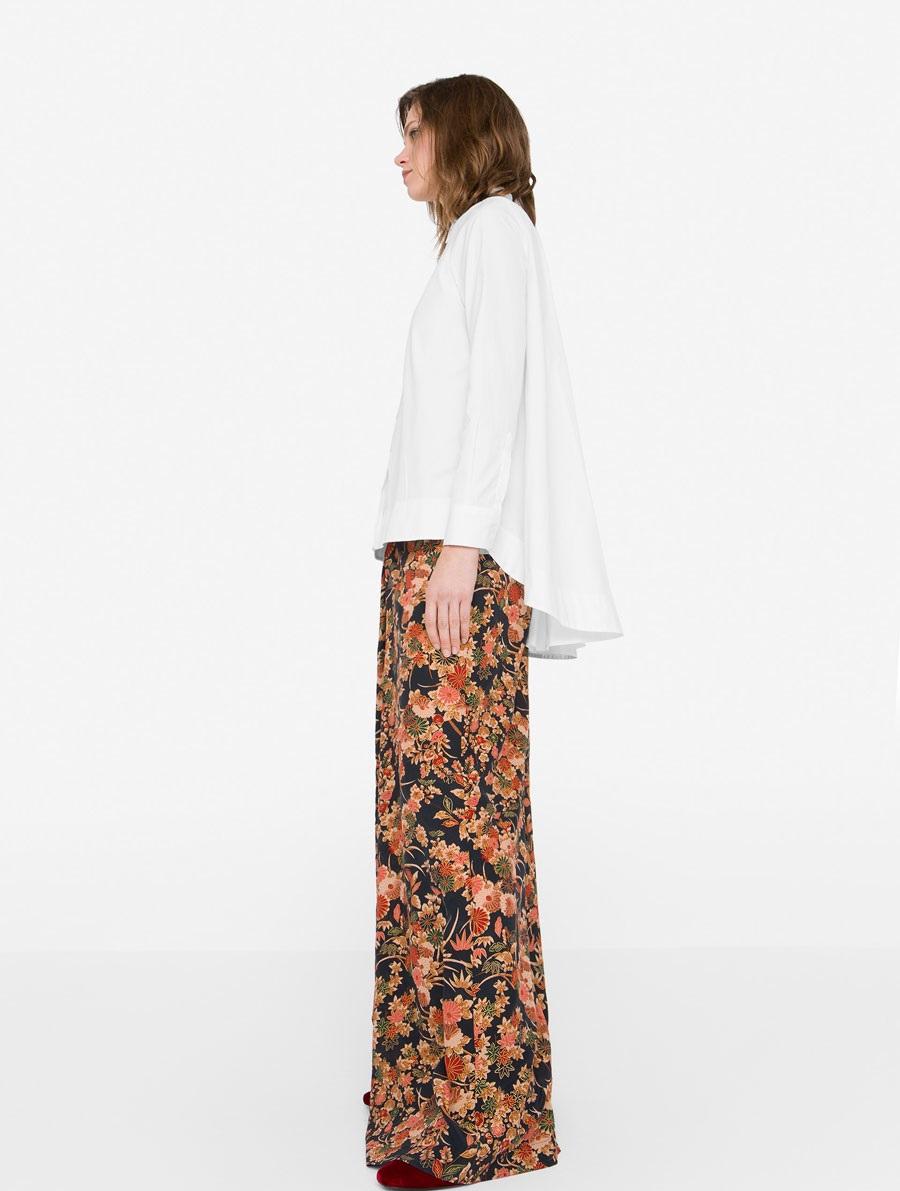 Uterque Winter A-line cotton shirt