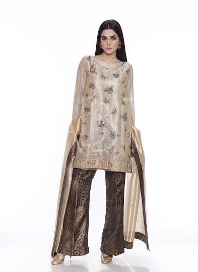 formal party wear dress with jamawar bell bottm