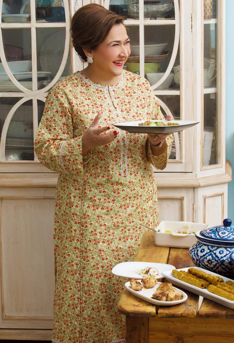 Lady wearing beautiful Printed lawn dress by Gul Ahmed