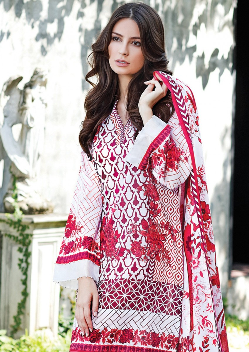 Gul Ahmed Printed Lawn Summer dress for women