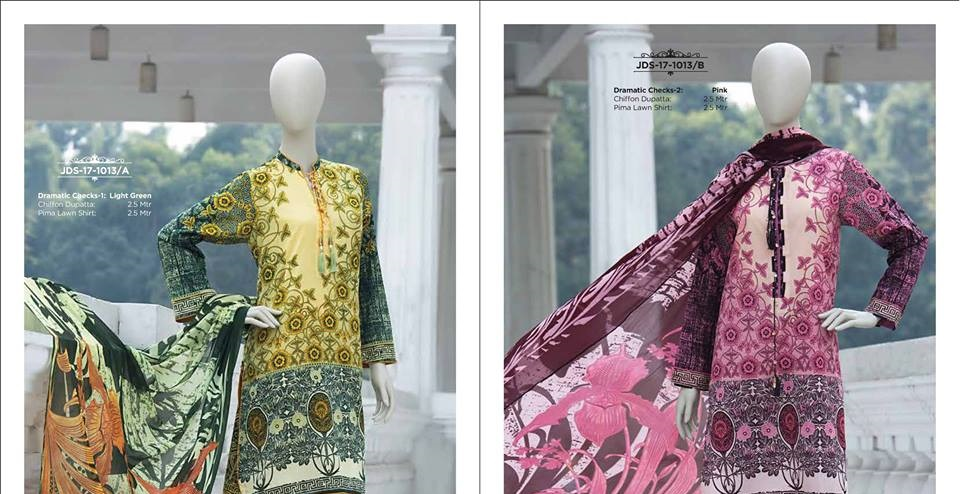 unstitched two piece prima lawn 2 piece suits by J.