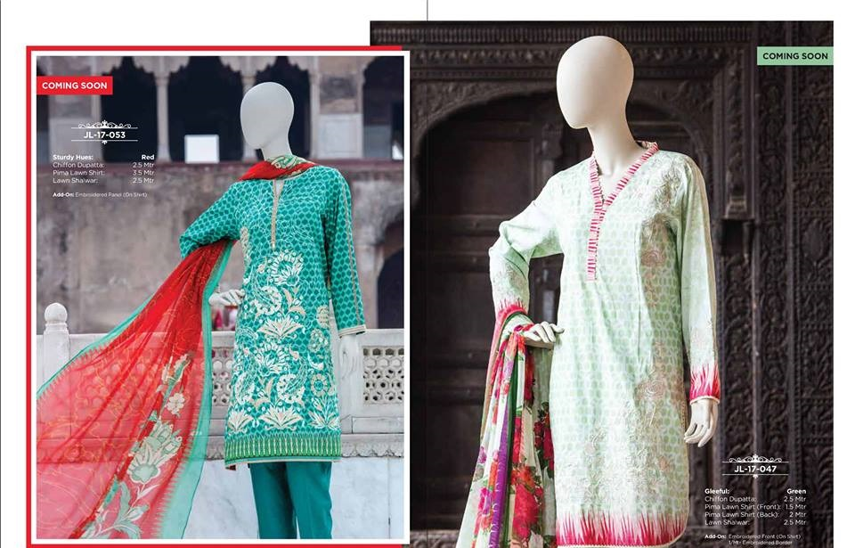 j. printed lawn suits summer collection