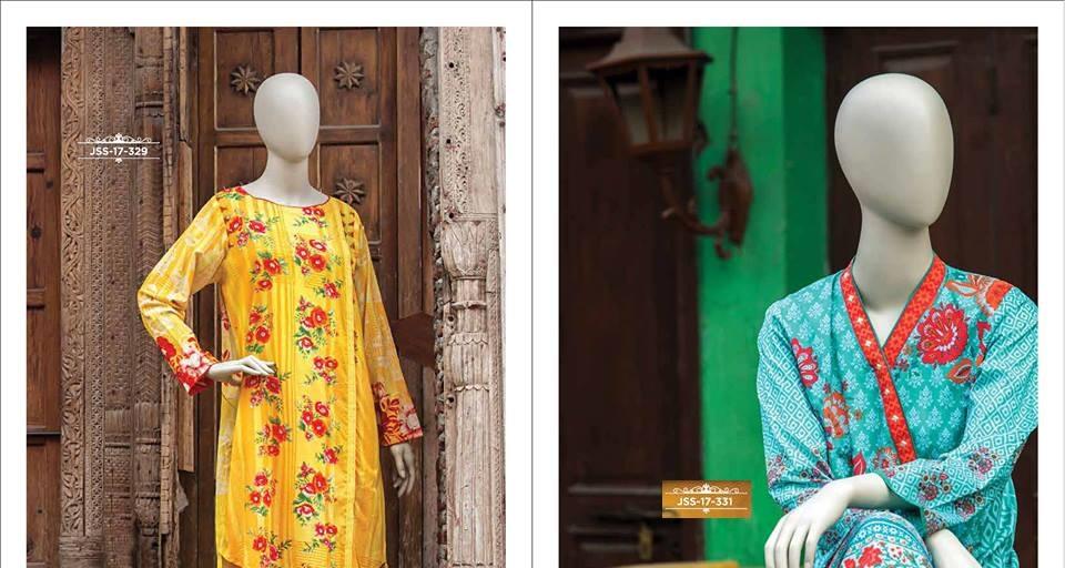 printed lawn stitched kurti designs by J.