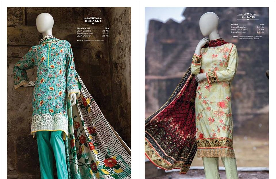 j. embroidered lawn suits