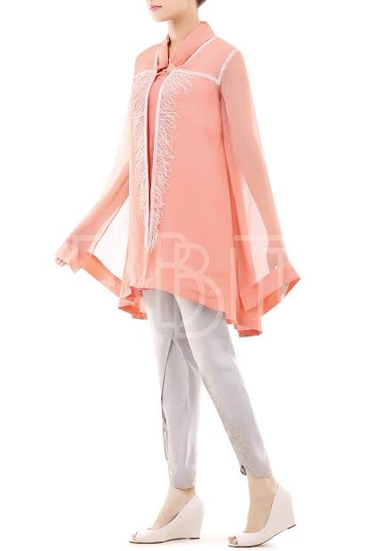 cape style top with tulip pant