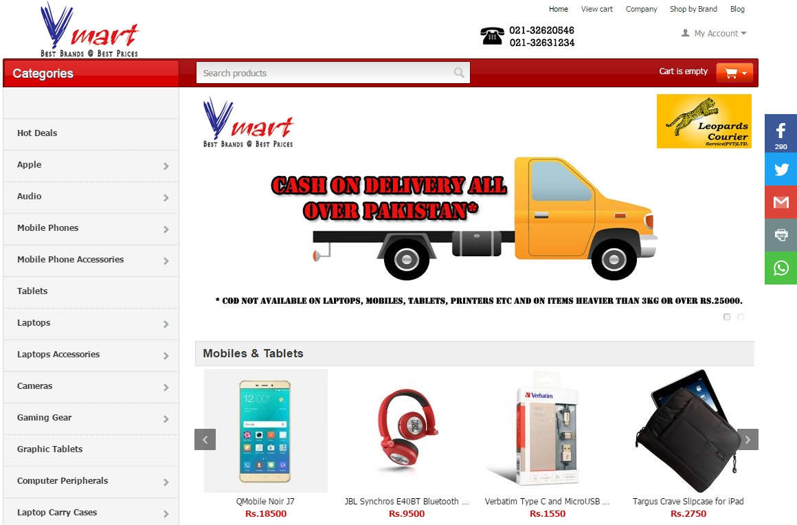 Vmart online shopping store