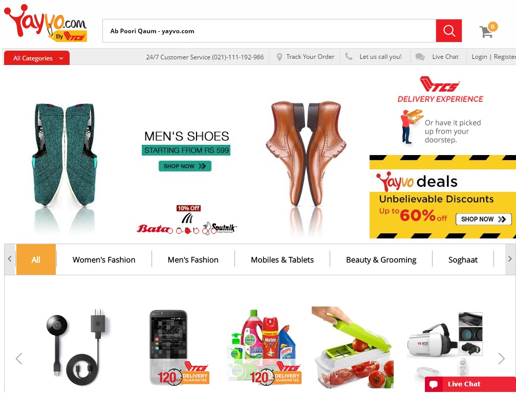 Yayvo by TCS an e-shopping store