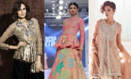 Pakistani Designer Peplum Frock Designs 2017-2018