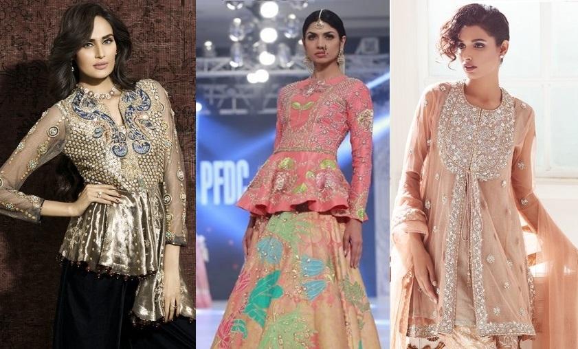 designer peplum frocks 20172018 trends in pakistan