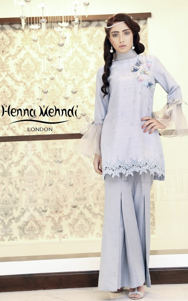Henna Mehndi Sharara pant paired with Crochet work tunic