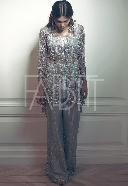 fancy Wedding Wear Waist Belt Dress for brides