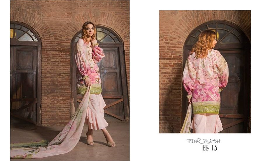 Cybil Chowdhry wearing Digital printed Pink Firdous Eid dress