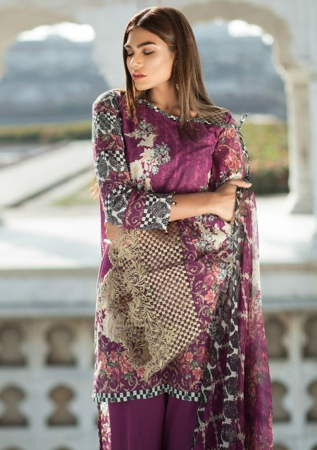 Mausummery COLORFUL LOVE Eid suit with chiffon dupatta