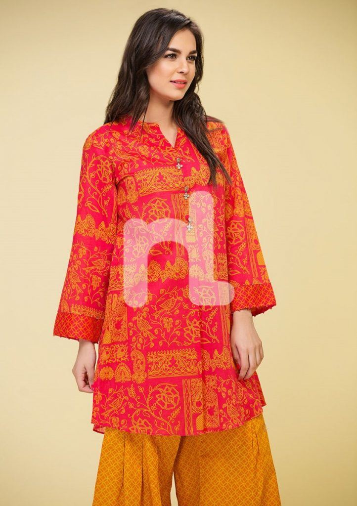 Pretty Red summer lawn suit by Nishat