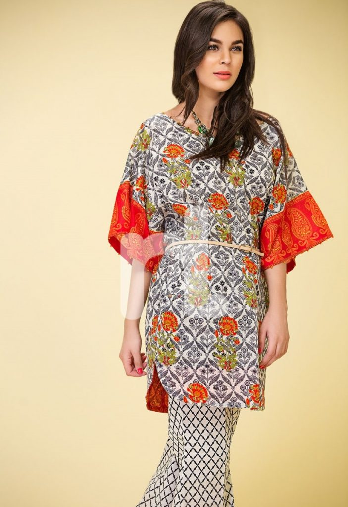 Nishat Linen lawn dress for women