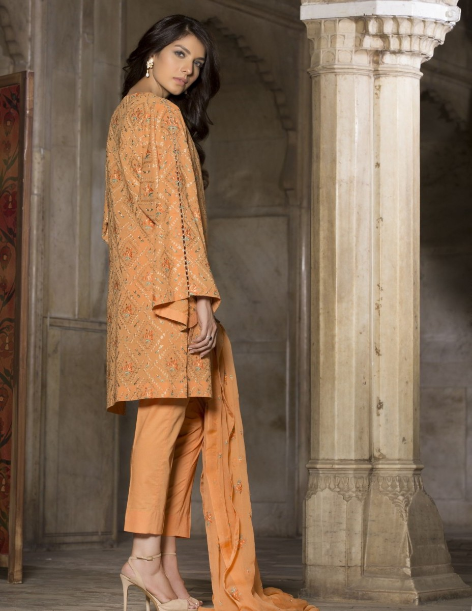Swiss Lawn Bareeze Eid Outfit for women
