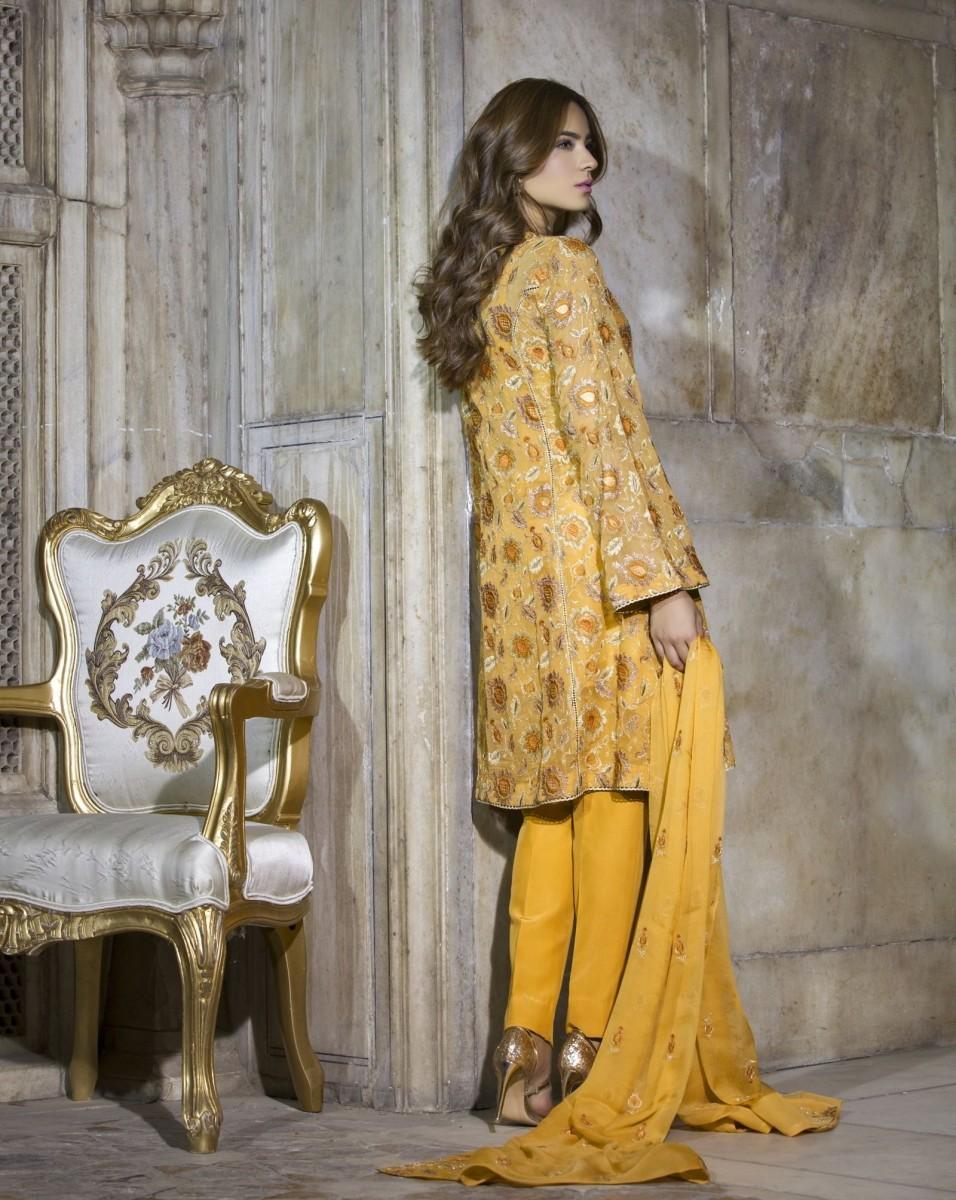 Bareeze Embroidered Chiffon Eid Dress
