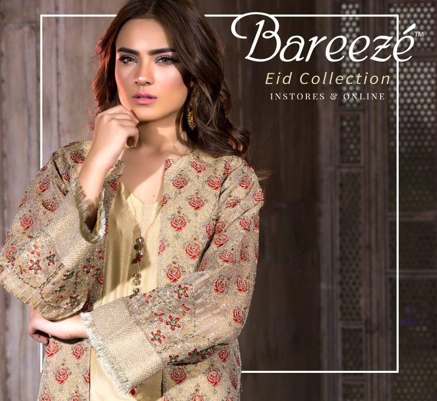 Bareeze Eid Catalog 2017 featuring Alyzeh Gabol