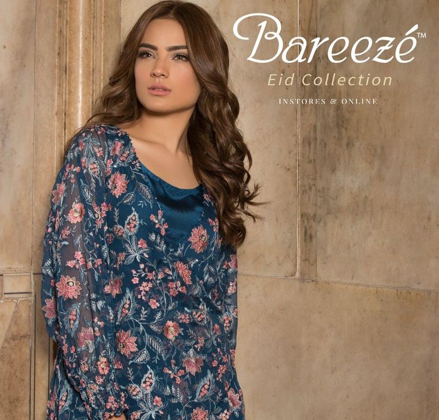 Alyzeh Gabol wearing Bareeze Embroidered Eid Classics