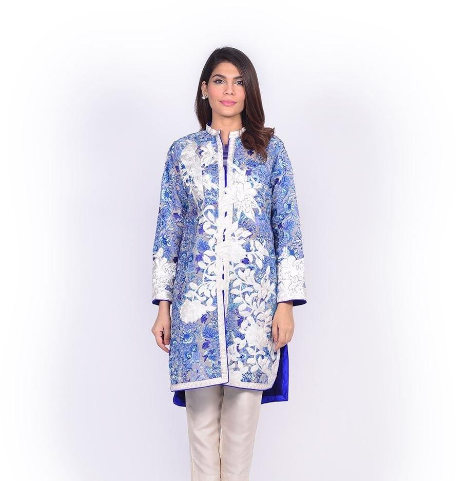 Sana Safinaz frock style Eid shirt with thread embroidery
