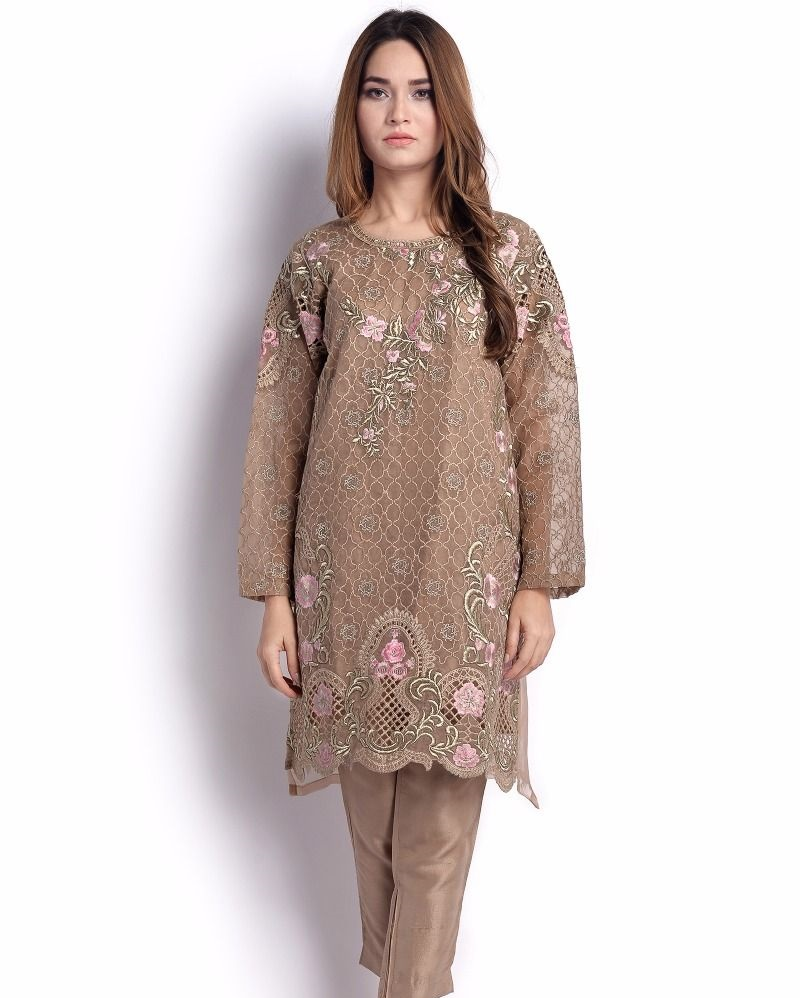 Sana Safinaz Festive Shirt with chic embroidery and cutwork