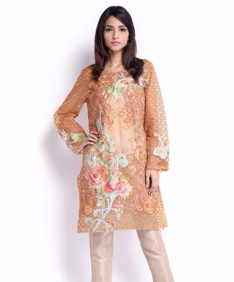 Sana Safinaz Formal embroidered Eid shirt with sequins