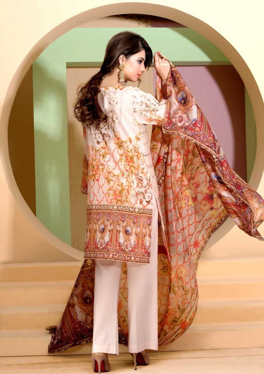 Floral Digital printed Eid design by Warda