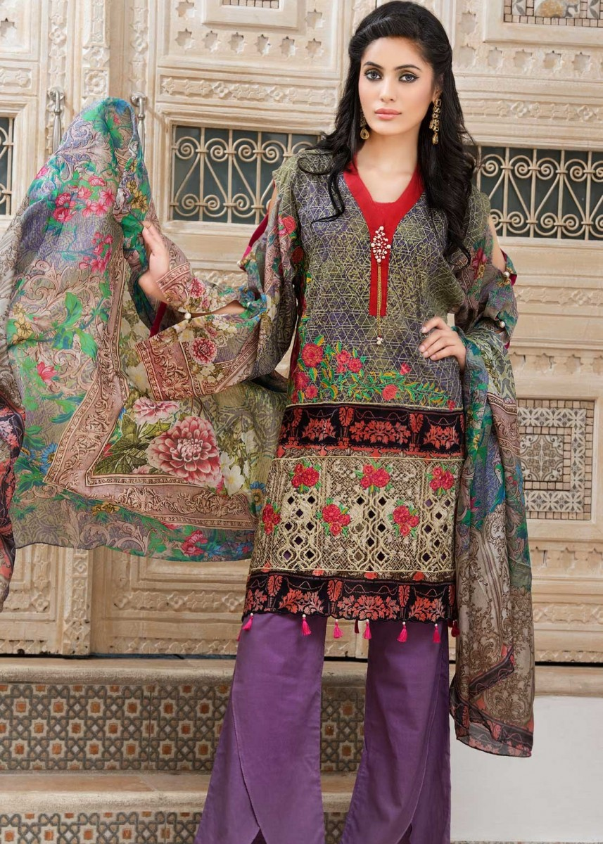Warda Floral Printed Eid Lawn outfit