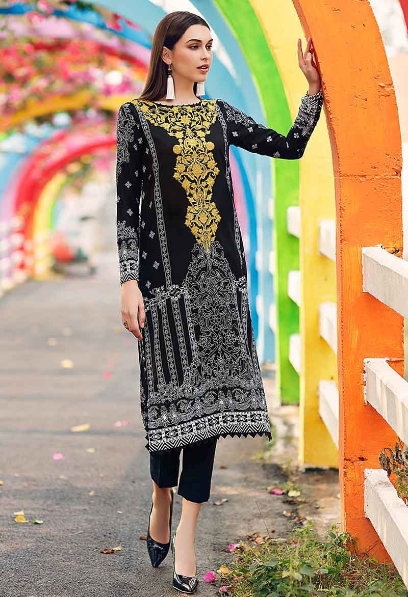 Black and Gold One-Piece Printed Shirt SL-634