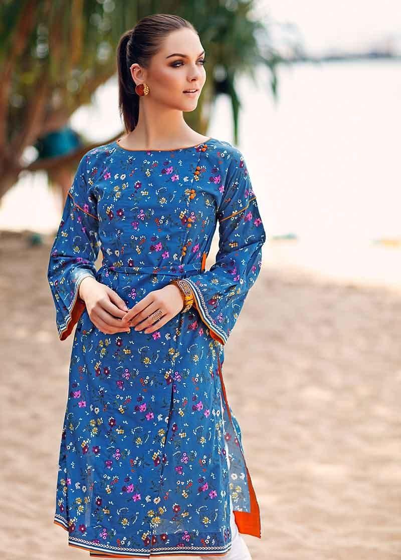 Blue One-Piece Lawn Shirt SL-615