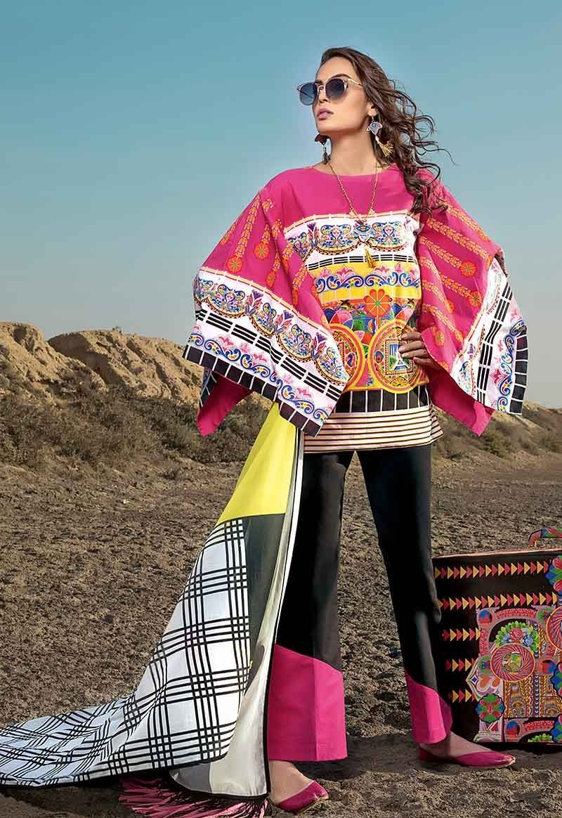 Truck Art Pink Two-Piece Lawn Outfit TL-165
