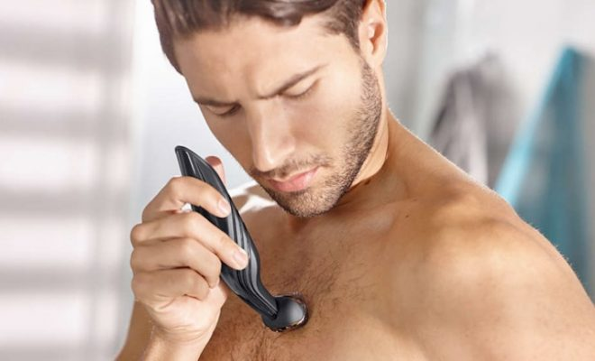 A man manscaping