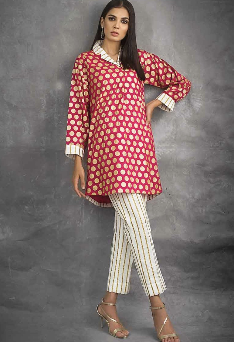 Red Eid suit for women